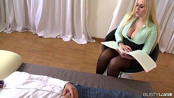 Big Tits psychologist Angel Wicky prescribes hardcore fucking