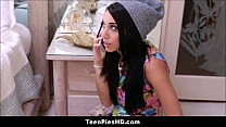Hot Latina Teen Caught And Creampie By Sisters Boyfriend