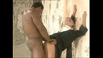 Naked african man bangs a white and pretty nun screaming for pleasure!