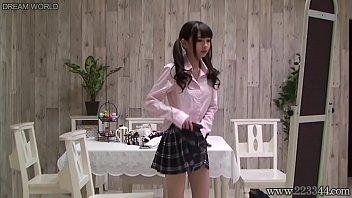 Japanese schoolgirl change uniforms 3 min