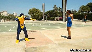 Latina Sasha Jones Riding in a Cyclops XXX Parody 10 min