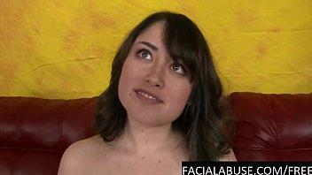 b. face fucking for cute brunette slut