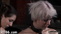Handcuffed darling gets excruciating caning on her slender body