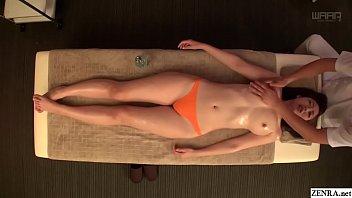 JAV star Asahi Mizuno CMNF erotic oil massage Subtitled 5 min