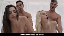 Two Cute Mormon Teens Pepper Xo And Cadence Lux Family Breeding Orgy With Church Heads