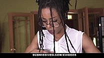 Submissived - Beautiful Ebony Queen Kira Noir Gets Filled With White Cock