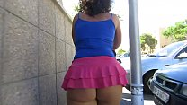 Micro Skirt in Public Showing Absolutely PERFECT Ass
