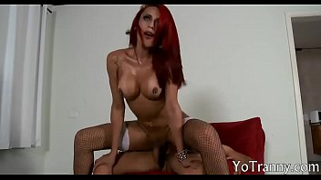 Busty redhead tranny anal hammered hard