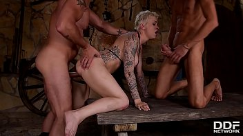 Blonde Slut Mila Milan DP & Rough sex Domination