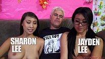 Jayden Lee & Sharon Lee Compete In Cock Sucking Challenge!