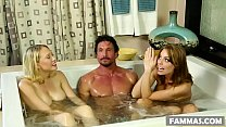 Busty stepsisters and their surprise client # Britney Amber, Kagney Linn Karter and Tommy Gunn 6 min