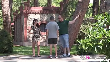 Clueless girl tourist has no idea where she is... But she knows she wants COCK!!!