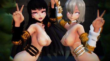 180528 [MMD]XXXDance Hk Knight Isokaze Hamakaze Gimme That