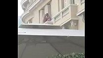 Cogida en balcon