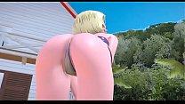 La androide 18 bailando 3D dragon ball super 2 min