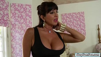 Busty stepmom flirts with her stepson 6 min