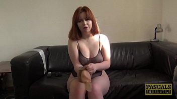 Redhead subslut rammed hard before having a taste of cum