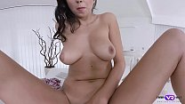 TmwVRnet.com - Foxxi Black - Naughty brunette climbs on table 6 min