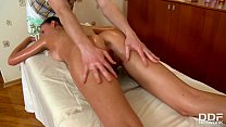 Teen Newcomer Faina Gets Pussy Fingered & Fucked By Massage Therapist