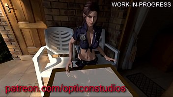 3D Claire Redfield from Resident Evil being Fucked HARD against a table Futa WIP (plz read comment) - by OpticonStudios
