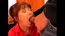 Double penetration for the Italian grandmother 28 min
