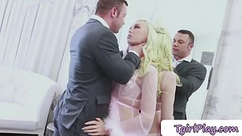 Hot ts Aubrey Kate gets dominated by a hunk dude