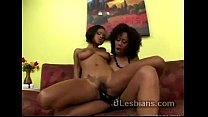 Black beauty uses strapon to pump ebony lesbian lover 5 min