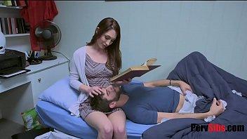 Nina Skye takes care of sick brother 8 min