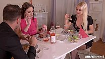 Horny Milf Dinner With Kitana Lure & Marie Clarence is an Ass Banging Night