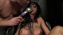 Under total domination. Humiliated bitch Cony Ferrara, mouth fucked and screwed painfully in her all holes. BDSM movie. Hardcore bondage sex. 40 min