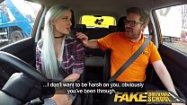 Fake Driving School Busty goth learner in anal and sex toys lesson finale 8 min