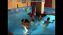 Student orgy in the pool