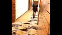 horny girl lifting her dress exposing breast n pussy in hotel lobby 64 sec