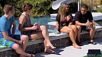 Amateur couple are swingers who want to do a full swap 6 min