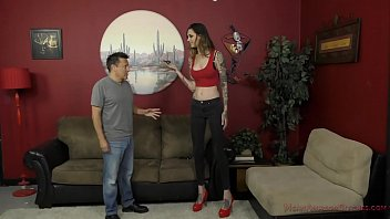 6 Foot 3 Rocky Emerson Dominates Her Short Roomate - Femdom & Ass Worship