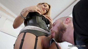 Tranny handcuffs bf and anal fucks him
