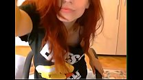 Beautiful redhead masturbates on webcam - Watch Part 2 on pornimagine.com