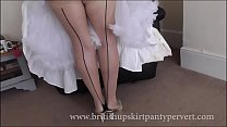 Upskirt and petticoats  64yr old British milf housewife in stockings shows her panties 8 min