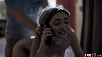 Babysitter teen fuck while on the phone with boyfriend 6 min