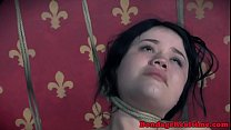 Dominated teen orgasms while toyed 6 min