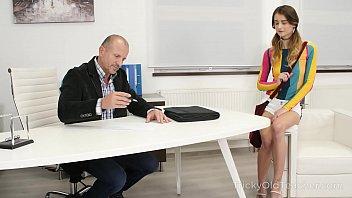 Tricky Old Teacher - Experienced but kinky teacher seduces his hot student 7 min