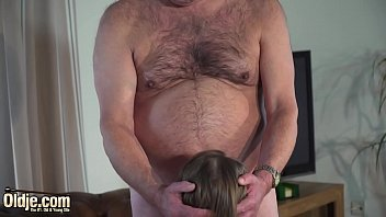 Hot old and young sex between grandpa and sweet teen