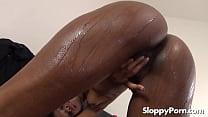 Hot ebony slut Ashlynn Sixxx 6 min