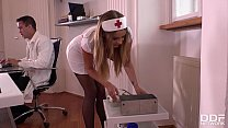 Hot nurse Candy Alexa gagged, handcuffed & ass fucked at the XXX clinic 19 min