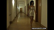 Amateur Milf sucks and fucks in a hotel room 12 min