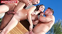 Brunette Babe gets her Pussy Stretched by two Studs (Ariana Marie)