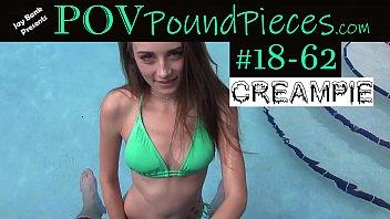 POV Hottie Creampie - Download Clip #18-62 on JayBankPresents.com 3 min