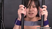 Fucking the Asian prisoner in a jail cell with desire