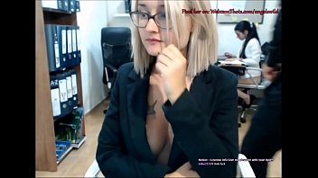 Blonde Cam Thot Caught By Boss Masturbating Live In Front of Coworker 6 min