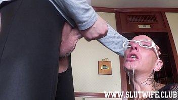 Submissive Bald Headed Slave Girl Enjoys A b. Sloppy Facefuck 7 min